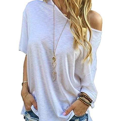 SMTSMT Las mujeres de verano de manga corta blusa de las tapas ocasionales de la camiseta