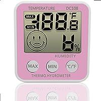 TopSun DC108LCD digitale Indoor umidità igrometro termometro temperatura con supporto