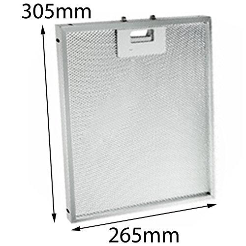 Spares2go aluminio grasa malla filtro para Ariston Cocina Campana Ventilador rejilla de...