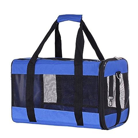 Transportbox Hundebox Tragebox für Hunde und Katzen bis 8kg Hundetasche Katzentasche Tragetasche 46x28x28cm PC18
