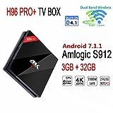 Android 7.1 3GB/32GB H96 Pro plus Smart Internet TV Box mit Amlogic S912 Octa Core CPU, 3GB RAM+32GB...