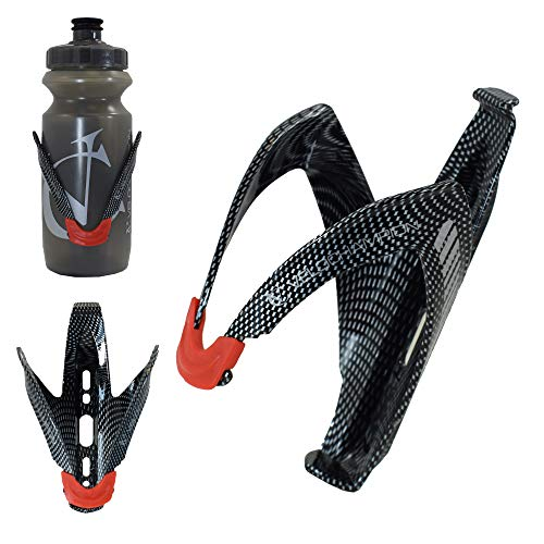 VeloChampion FibreCarbon Portabidon de agua con aspecto carbono - Bicicleta Water Bottle Cage