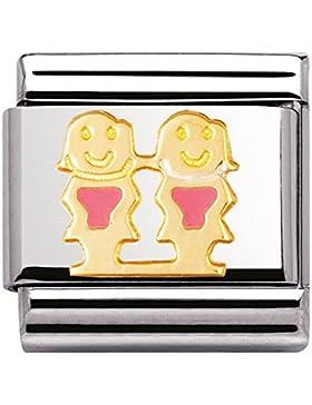 Nomination Composable Classic FUN Edelstahl, Email und 18K-Gold (Schwestern) 030209