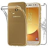 ebestStar - Cover Samsung Galaxy J5 2017 SM-J530F Custodia TRASPARENTE Silicone Gel TPU Protezione MORBIDA e SOTTILE, Trasparente + Pellicola VETRO Temperato [Dimensioni PRECISE dell'apparecchio : 146.2 x 71.3 x 7.9 mm, schermo 5.2''] [Nota Importante Leggere Descrizione]