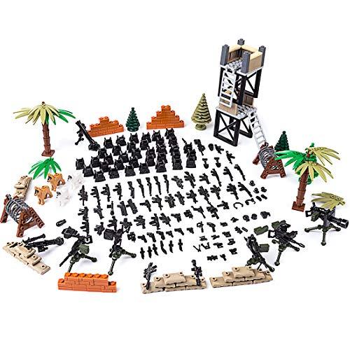 NURICH Custom Battle Militär Szene für Mini Figuren SWAT Team Soldaten Polizei, passen zum Lego