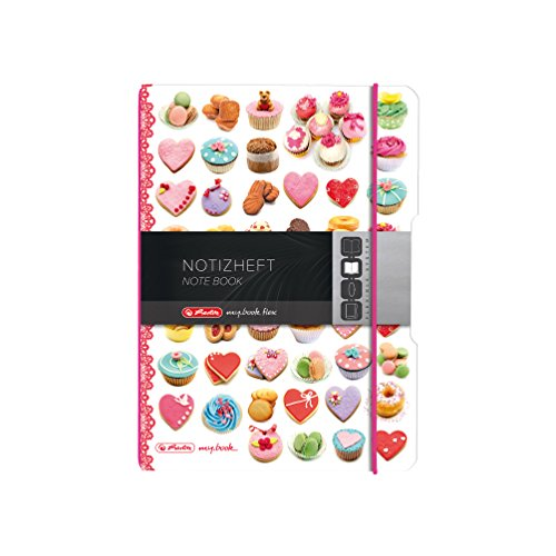 Herlitz 11415627 Notizheft (A5, kariert, 80 g/qm) 40 Blatt rezepte (Schreiben Notebook Rezept)