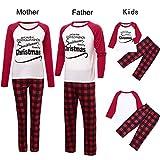 TianWlio Baby Weihnachten Pyjamas Baby Weihnachten Outfit Baby Mädchen Mama und Papa Mama Weihnachtsmama & Papa & Ich Papa Bier Hüte Tops + Streifen Hose Familie Set Kleidung