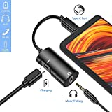 USB C to 3.5 mm Headphone Jack Adapter,2 in 1 Aux USB Type