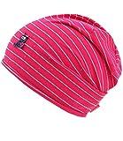 EveryKid Maximo Jerseybeanie mit Rollrand Jerseymütze Mädchenmütze Kindermütze Übergangsmütze mit niedlicher Applikation (MX-73500-975200-S17-MA0-2111-47) in Pink, Größe 47 inkl Fashionguide