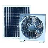 PK Green Solarlüfter 12V mit 30W Solarpanel | Solar Ventilator für Boote, Gartenhaus, Gewächshaus, Auto, Zelt, Camping | Lüfter Fan DC Tragbar 39 x 38 cm für Garage, Wohnmobil, Wohnwagen | Lüfterset