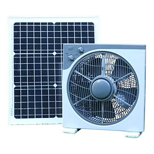 PK Green Solarlüfter 12V mit 30W Solarpanel | Solar Ventilator für Boote, Gartenhaus,...