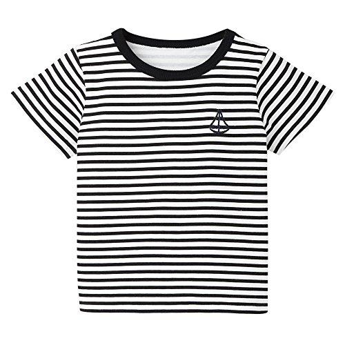 UFODB Baby Junge MäDchen T-Shirt Kurze ärmel Muskelshirt Sportshirt Streifen Segeln Drucken Kurzshirt ()