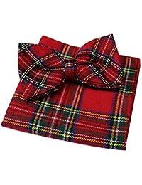 Red Royal Stewart Tartan Bow Tie & Hanky