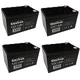 4 x wiederaufladbare Blei-Säure-Batterien 12 V Volt 14 Ah für Elektrofahrräder 6DZM-