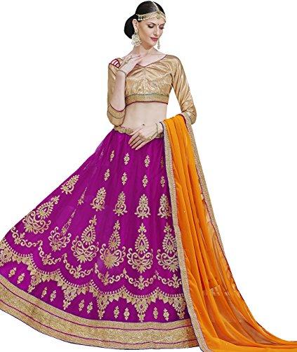 Indian Ethnicwear Bollywood Pakistani Wedding Dark Pink A-Line Lehenga Semi-stitched