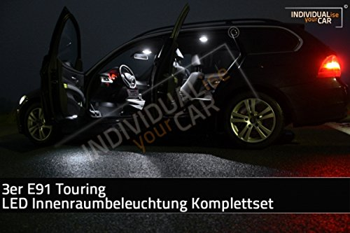 LED Innenraumbeleuchtung SET für 3er E91 Touring - Pure-White mit Panoramadach