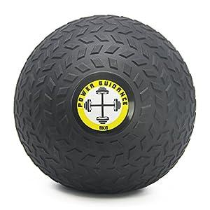 POWER GUIDANCE – Slam Ball Gummi Medizinball Fitnessball Trainingsball mit griffiger, Strukturierter Oberfläche und Ultra-Robuster Gummihülle – Gewicht vorhanden: 3, 4, 5, 8, 10, 12, 15kg