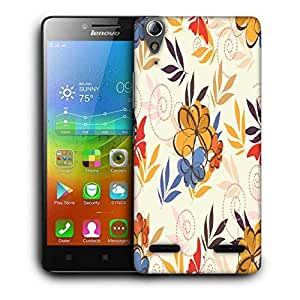 Snoogg Colorful Flowers Printed Protective Phone Back Case Cover For Lenovo A6000