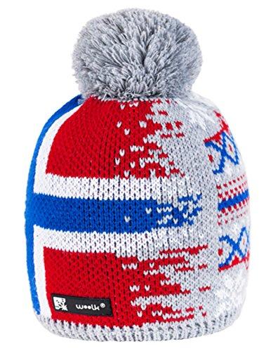 UNISEX Nordic Beanie hat Bonnet d'hiver chaud Fashion SKI SNOWBOARD Sport doublure polaire 100% Laine (Nordic46) Nordic44