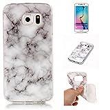 Cozy Hut Für Samsung Galaxy S6 Edge Handyhülle mit Marmor/Marble Design(grau/weiß) | Handytasche | | Schale | | Hülle | | Case | Handy-etui | TPU-Bumper | Soft Case | Schutzhülle Cover