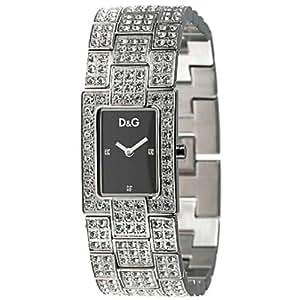 Dolce & Gabbana - 3719251037 - Montre Mode Femme - Quartz analogique - Bracelet en acier avec strass