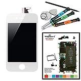 Trop SaintKit Réparation Ecran LCD Blanc iPhone 4 + Vitre Tactile + outils