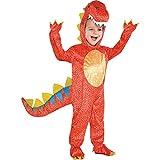Amscan 884660, Costume per travestimento da Dinosauro, Bambino, Multicolore, taglia 3-4 anni