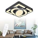 LeMeiZhiJia 54W Schwarz Kinderzimmer Beleuchtung Raumfahrzeug Modellierung - Mädchen/Junge Studie LED Deckenleuchte - für Club Kinder Schlafzimmer Esszimmer Wohnzimmer(54W, Dimmbar)