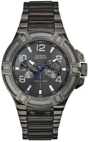 Guess nightlife orologio da uomo sportivo cassa solida