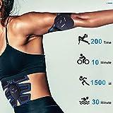 PIONIN Electrostimulateur Musculaire【2019 Dernière Version】, 8 Ceinture Abdominale Electrostimulation/Bras/Cuisse Muscle Forme d'exercice Fitness pour Homme Femme