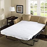 Comfort Classics Frisco Microfiber Sofa Bed Pad White, 60 x 72 by Madison Park Essentials