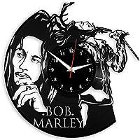 EVEVO Bob Marley Reloj de Pared Vinilo Tocadiscos Retro de Reloj Grande  Relojes Style habitación Home 50440ad8d45