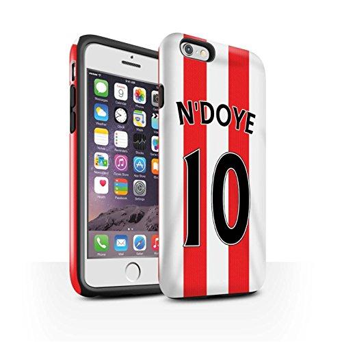 Offiziell Sunderland AFC Hülle / Glanz Harten Stoßfest Case für Apple iPhone 6S / Pack 24pcs Muster / SAFC Trikot Home 15/16 Kollektion N'Doye