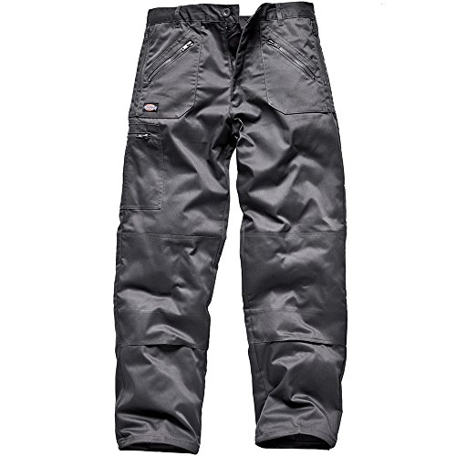 Dickies Workwear WD814 Redhawk MS Action Work Trousers, Grey , 48R