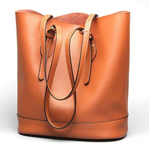 Rindsleder-Tote-Taschen-große Kapazitäts-Griff-Kupplungshandtaschen ()