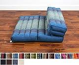 siège méditation pliable, 50x75x12 cm, Kapok, Bleu