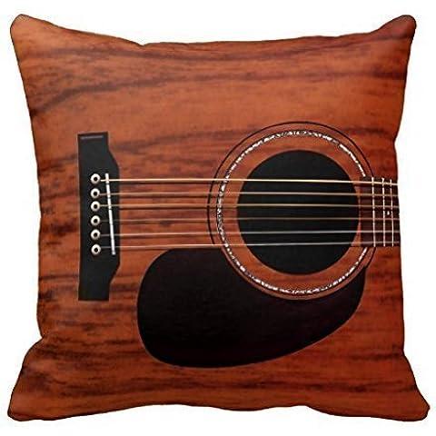 AHArtSaleStore O10L Mahogany Top Acoustic Guitar Decoration Pillow Case Cushion Cover 18 inch