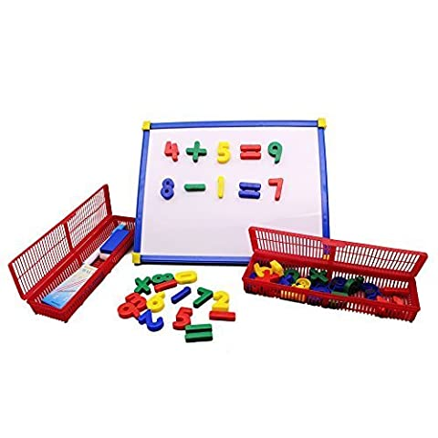Kids Magnetic Drawing Writing Board - Hanmun 2017 New Design Colourful Aritmetic Education Toys With 45Pcs Numbers for Kids Toddler Learning Mathematical