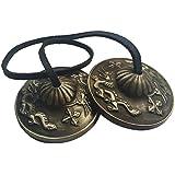 Zap Impex® Tingsha de meditación tibetano Bell 2.1prägear Tiger doble dragón