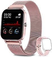 AIMIUVEI Smartwatch, Reloj Inteligente IP67 con Pulsómetro, Presión Arterial, 7 Modos de Deportes y GPS, Monit