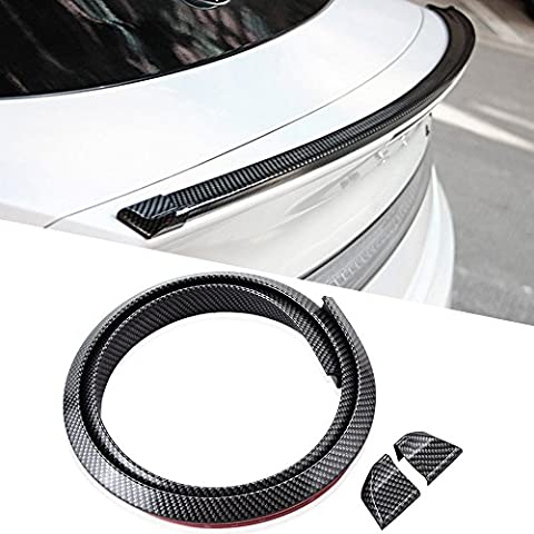 4.5ft (145cm/1.4m)Universal Environmental-friendly Rubber Trunk or Rear Roof Lip Spoiler with Glossy Stylish Carbon Fiber Pattern