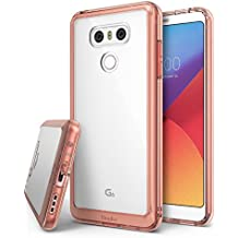 Funda LG G6 / G6 Plus , Ringke [FUSION] Protector de TPU con parte posterior transparente de PC [Protección contra caídas] Carcasa protectora biselada - Cristal oro rosa Rose Gold Crystal