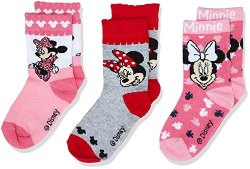 Disney Mädchen Socken Minnie Mouse, Multicoloured(Pack2), 4-5 Jahre (Disney Socken Für Kinder)