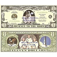 Novelty Dollar Apollo 11 Journey To The Moon Landing Dollar Bills X 2
