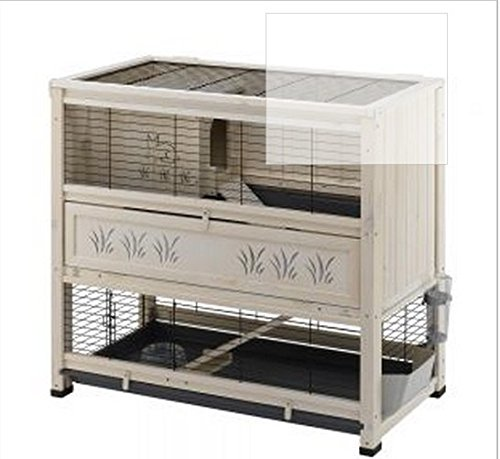 Elegant Indoor Wooden Hutch With Two Levels - Suitable For Small Rabbit Breeds And Guineapigs, With A Chic Design And… 1