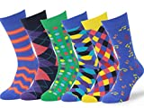 Easton Marlowe (6 PAIA) Calze Fantasia Uomo - 6pk #1, mixed - bright colors, 39-42 EU shoe size