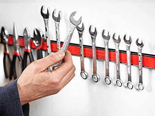 Deuba® Magnetleiste 60cm ✔23kg Tragkraft ✔Modellauswahl ✔Montagematerial Werkzeugleiste Messerleiste mit Modellauswahl Magnetleisten für Werkzeug - 5