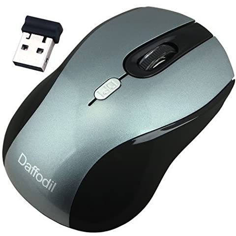 3 Button Wireless PC Mouse - Daffodil WMS335 - Control your Computer with Ease - Sensitivity Control