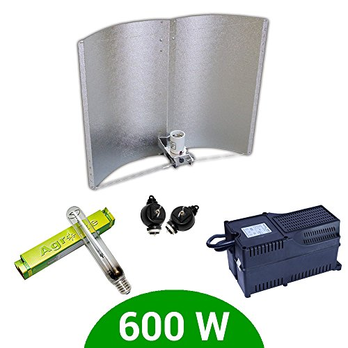Kit d'éclairage 600 W SHP Agrolite + Ballast Agrolite classe 2 + Adjust-a-Wings