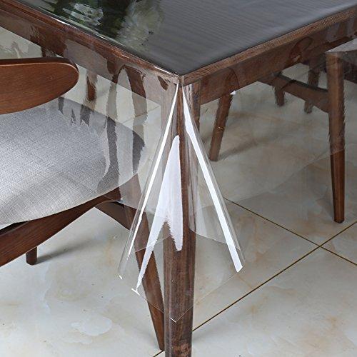 nclcxn Ultra-thin Durchsichtige Tischtücher Tischdecke,Kunststoff tischdecke Wasserdicht Schmutzabweisend Falten Weich-A 120x200cm(47x79inch) (Thin 200)